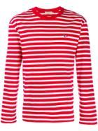 Maison Kitsuné Striped Longsleeve Top - Red