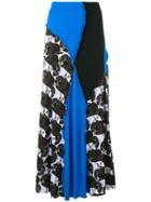 Marni Printed Pleated Skirt - Blue