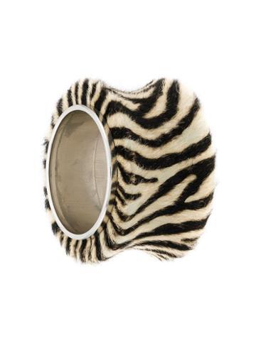 Christian Dior Pre-owned 1990's Large Zebra Cuff - Black