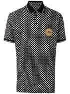Dolce & Gabbana Printed Polo Shirt - Black