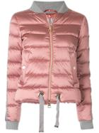 Herno Cropped Bomber Jacket - Pink