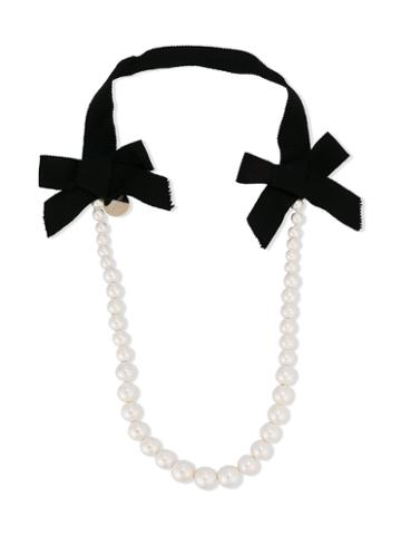 Lanvin Petite - Pearl Necklace - Kids - Polyester - One Size, White