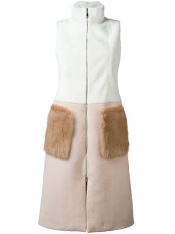 Drome Sleeveless Bicolour Coat