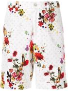 Loveless Floral Print Shorts - White