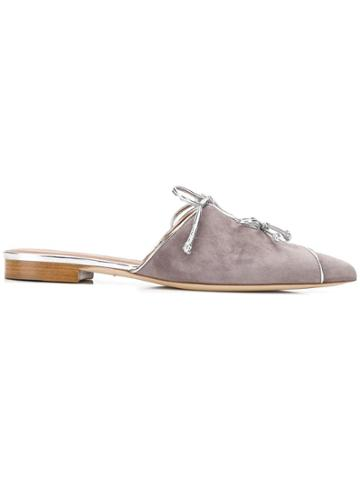 Malone Souliers By Roy Luwolt Vilvin Bow-detail Mules - Grey