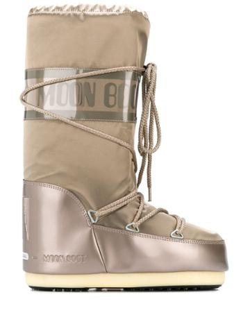 Moon Boot Tall Snow Boots - Neutrals