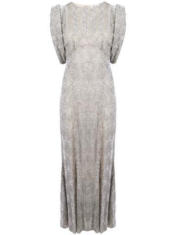 Attico Embellished Gowns - Grey