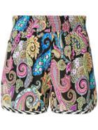 Etro Paisley Printed Shorts - Multicolour