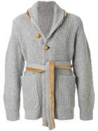 Sacai Hooded Cardigan - Grey