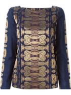 Tory Burch Longsleeved Jacquard Top