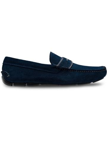 Prada Driver Moccasin Loafers - Blue