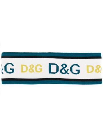 Dolce & Gabbana Logo Head Band - Blue