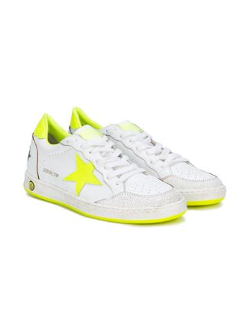 Golden Goose Deluxe Brand Kids Ball Star Sneakers - White