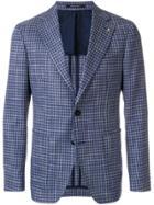 Tagliatore Tailored Check Blazer - Blue