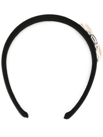 Salvatore Ferragamo 'vara' Bow Head Band - Black