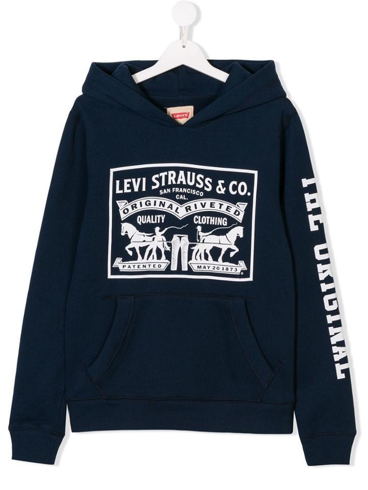 Levi's Kids Teen Printed Hoodie - Blue