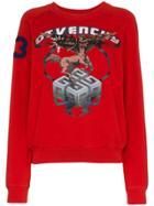 Givenchy Sagittarius Sign Print Cotton Sweatshirt - Red