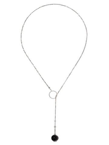 Raphaele Canot 18kt White Gold Set Free Onyx And Diamond Necklace