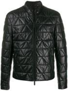 Emporio Armani Quilted Zip Jacket - Black