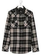 Diesel Kids Teen Checked Shirt - Black
