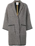 Semicouture Houndstooth Coat - Brown