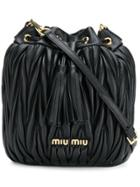 Miu Miu Matelassé Mini Bucket Bag - Black