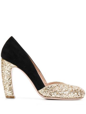 Miu Miu Sequin Heel - Gold