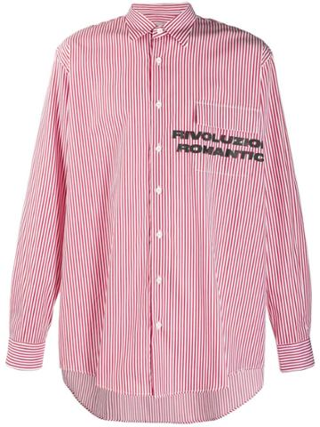 Paura 'revoluzione Romantica' Printed Shirt - Red