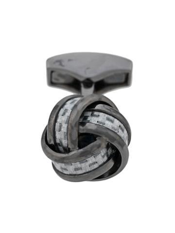 Tateossian Woven Knot Cufflinks - Black