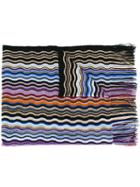 Missoni Fringed Wavy Knit Scarf