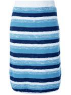 Loveless Striped Knit Skirt