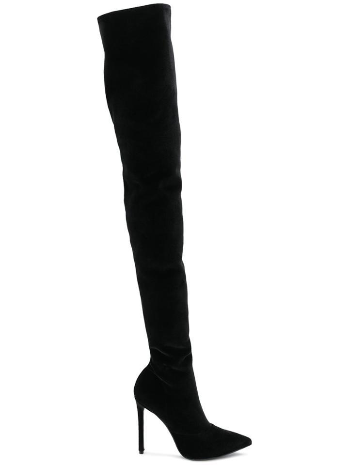 Marc Ellis Thigh-high Heel Boots - Black