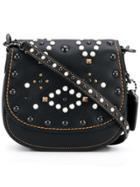 Coach Mini Studded Saddle Bag - Black