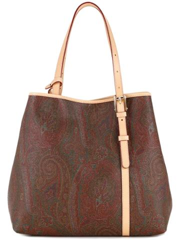 Etro Paisley Patterned Tote, Women's, Calf Leather