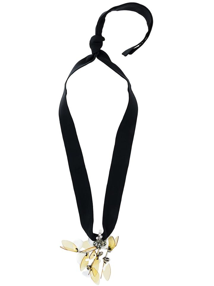 Marni Drop Necklace - Black