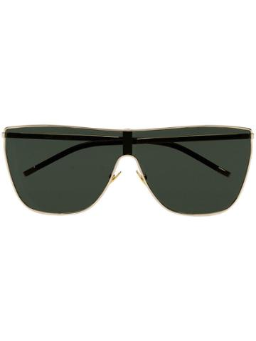 Saint Laurent Eyewear Metallic Mask 004 Sunglasses
