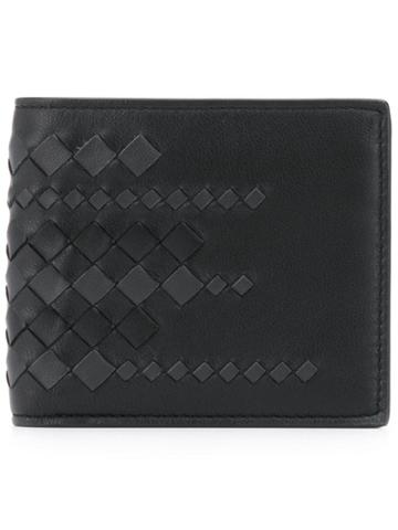 Bottega Veneta Intrecciato Woven Billfold Wallet - Black