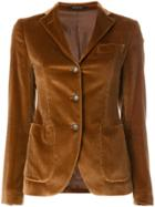 Tagliatore Fitted Button Up Blazer - Brown
