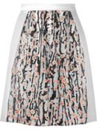 Carven Printed A-line Skirt