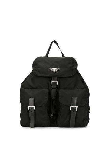 Prada Pre-owned Vela Backpack - Black