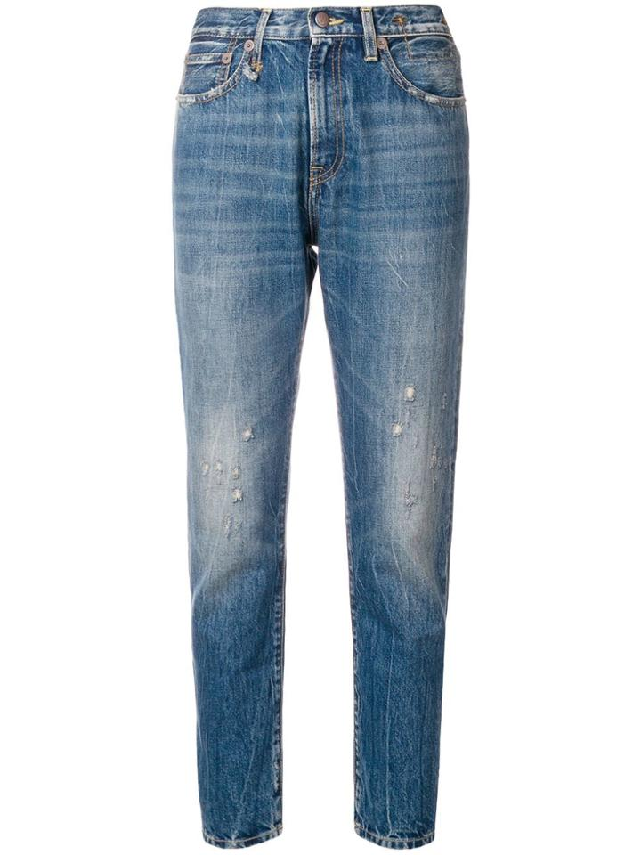 R13 Skinny Distressed Jeans - Blue