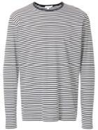 Sunspel Striped Sweatshirt - White