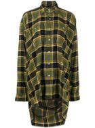 R13 Oversized Plaid Shirt - Green