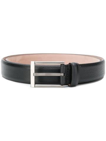 Lanvin Engraved Logo Buckle Belt - Black