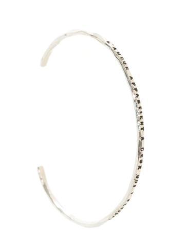Thoraval 'l'amour Appartient A Ceux Qui Y Pensent' Bracelet, Women's, Size: Medium, Metallic