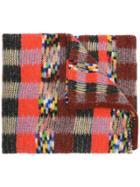 Missoni Checked Knit Scarf - Orange