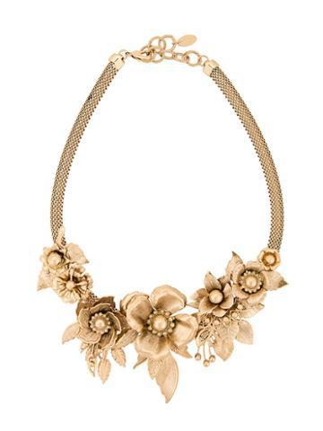 Elizabeth Cole Floral Statement Necklace