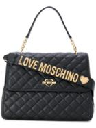 Love Moschino - Flap Closure Quilted Tote - Women - Polyurethane - One Size, Black, Polyurethane