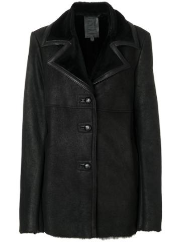 Dondup Shearling Coat - Black