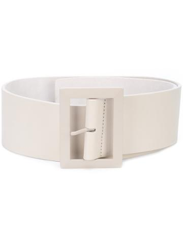 B-low The Belt Wide Buckle Belt - White